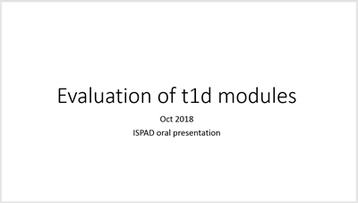 Evaluation of T1D Modules
